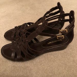 Enzo Angiolini brown women's sandals size 8.5